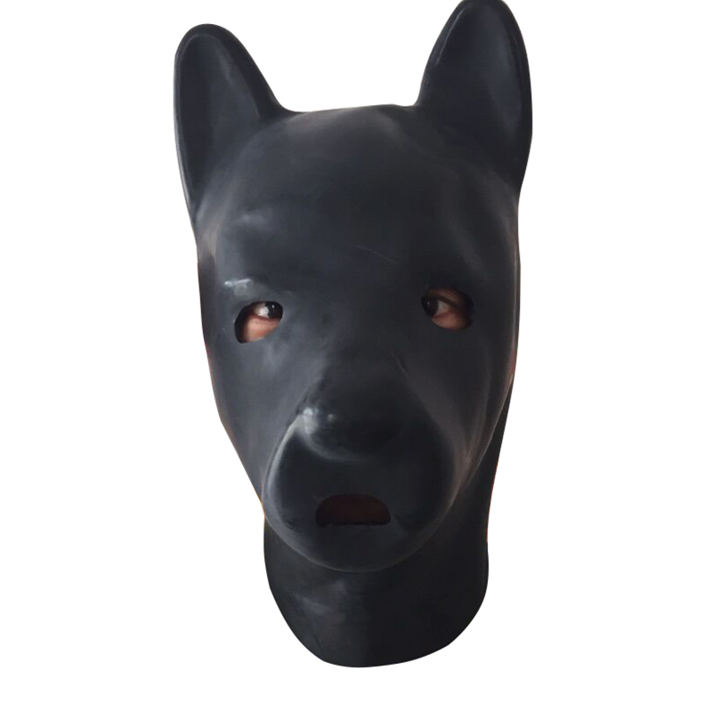 Latex dog Hood Fetish puppy Mask extra thickness 1 5mm to 2 0mm plus thickness vivid