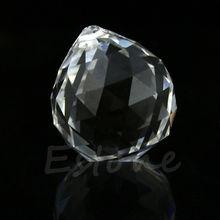1 прозрачный кристалл фэн-шуй Лампа Шар Призма Радуга солнце Ловец Свадебный декор 20 мм