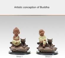 Antique Buddha Incense Burner Ceramic Cone Coil Backflow Stove Decoration Santalwood Holder Furnace Aromatherapy