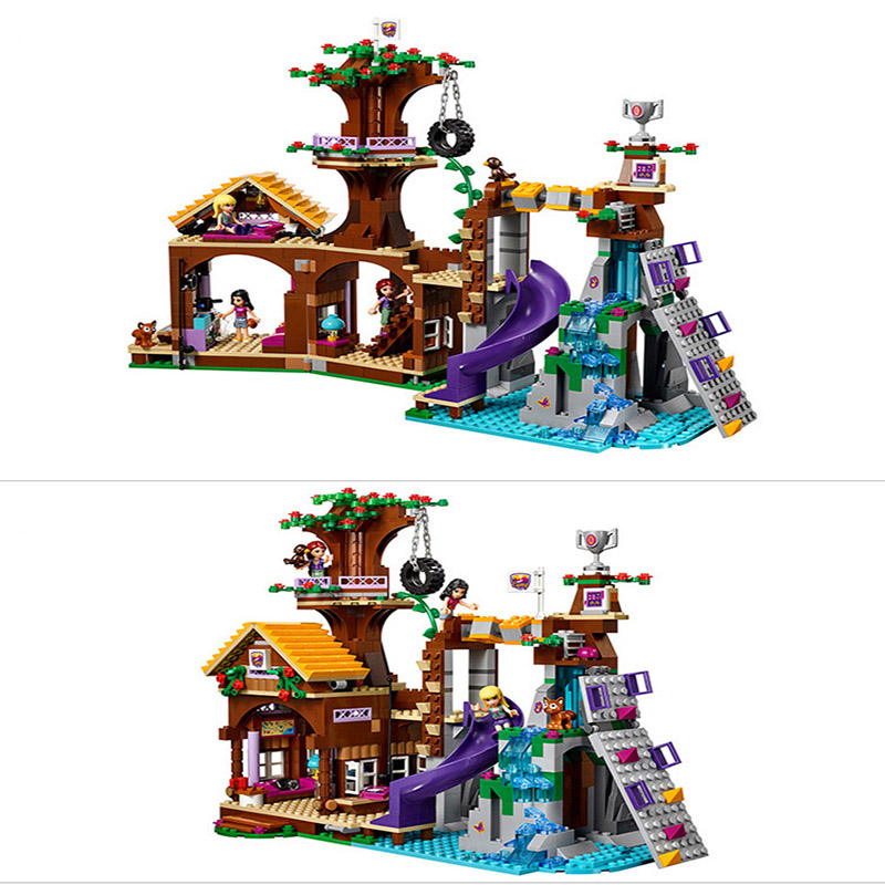 Legoings technic Friends City Girl Adventure Camp Tree House Party DIY Model Building Blocks Bricks Kids House Gifts Toys in Blocks from Toys Hobbies