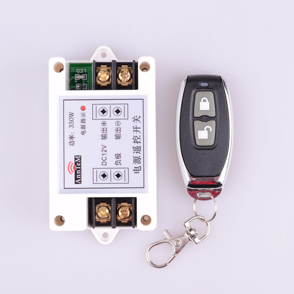 433Mhz High Power 12V 40A 350W RF Wireless Remote Control Lighting Switch Learning Function Receiver + Metal Transmitter chunghop rm l7 multifunctional learning remote control silver