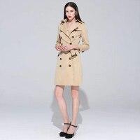 Ladies Coats Fashion Brand 2017 Women Cloak Trench Coat Runway Autumn Winter Spring Long Khaki Womens Designer Windbreaker Cape