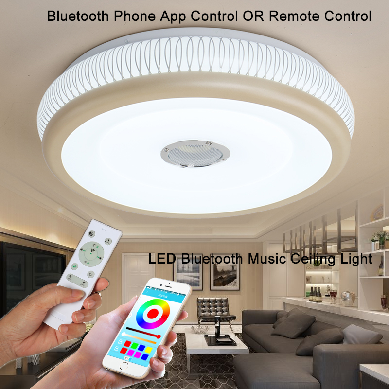 Bluetooth music Ceiling Lights LED Modern Lights Guest room Remote control kids lighting ceiling with speaker Veayas