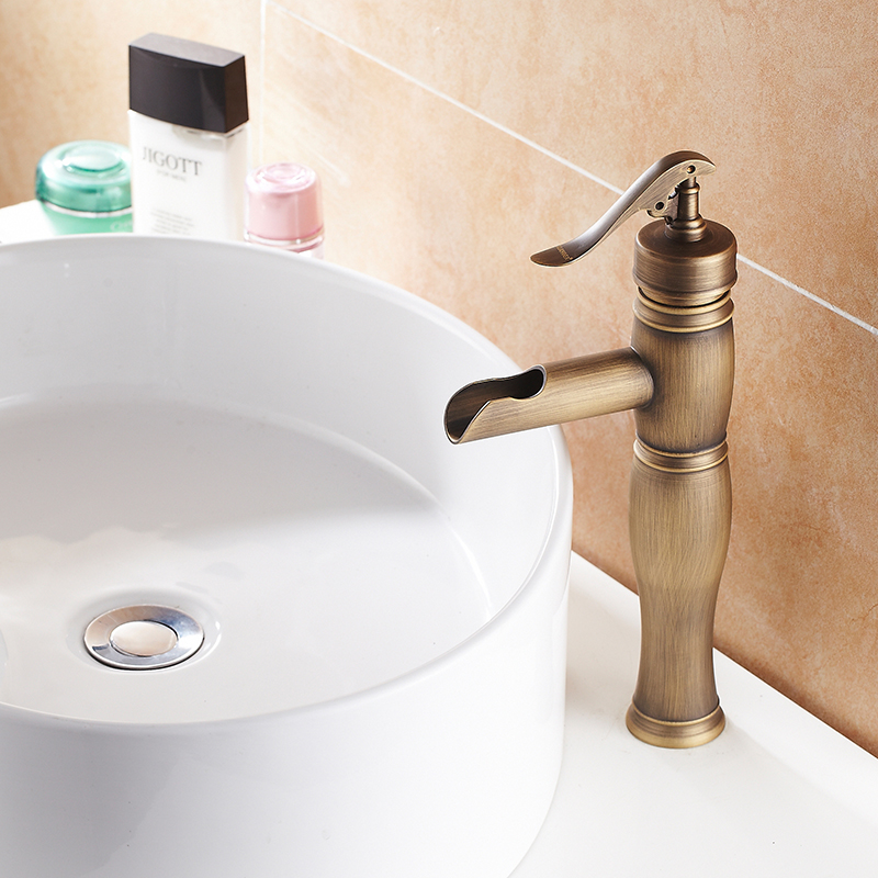 Antique Brass Bathroom Faucet Bath Tall Toilet Retro Basin Faucet Single Handle Wash Basin Taps Tall Lavatory Faucet shower tap встраиваемый светильник mantra formentera c0074