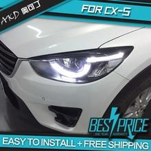 АКД автомобилей Стайлинг фар для Mazda CX-5 2011- CX5 фары светодиодные ходовые огни биксенон интенсивность пучка Противотуманные фары ангельские глазки авто