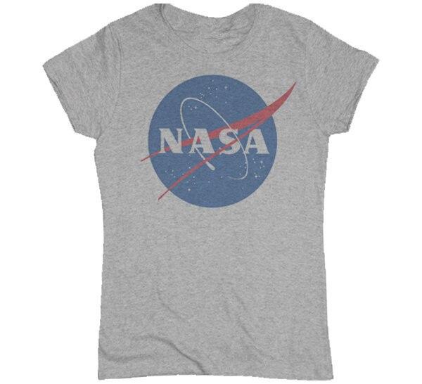 New 2015 Summer Women s T Shirt Fashion NASA T-Shirt Distressed Tee  Discovery Apollo Astronaut Top Tee Gift Free Shipping 99ca8fa67bfe