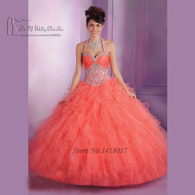 70def0cd4 Vestidos de 15 Anos Dress for 15 Years Coral Turquoise Quinceanera Dresses  Masquerade Ball Gowns Decachable Straps Beaded Jacket