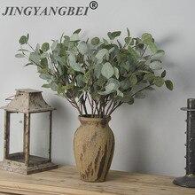 Decorative Indoor-Potted-Decoration Fake-Flowers Eucalyptus Plastic Plant Artificial