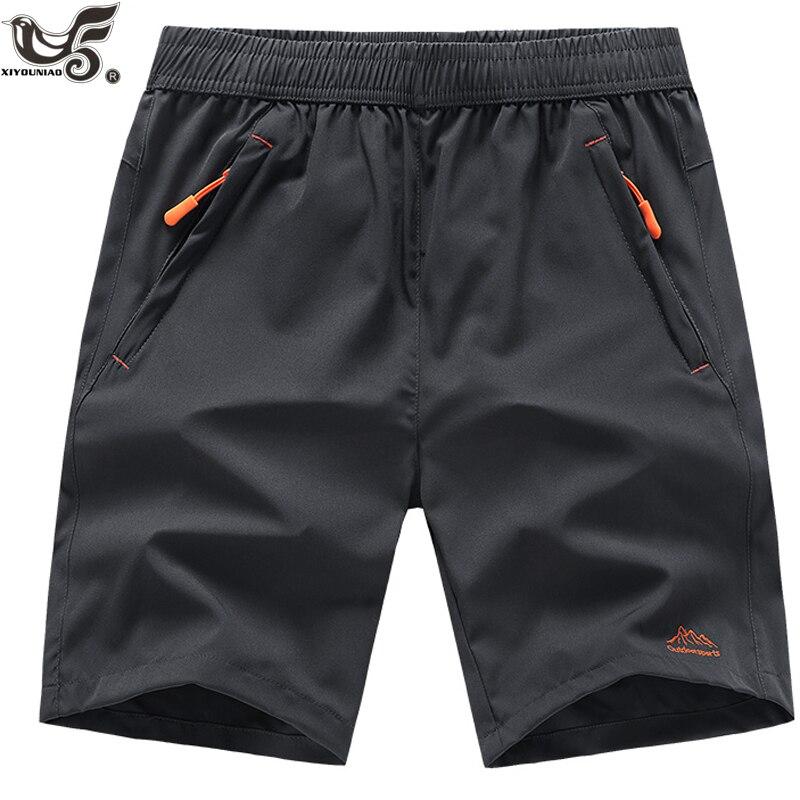 XIYOUNIAO plus size L ~ 7XL 8XL 9XL novos homens verão shorts homme slim fit praia bermuda masculina corredores exteriores calças casuais