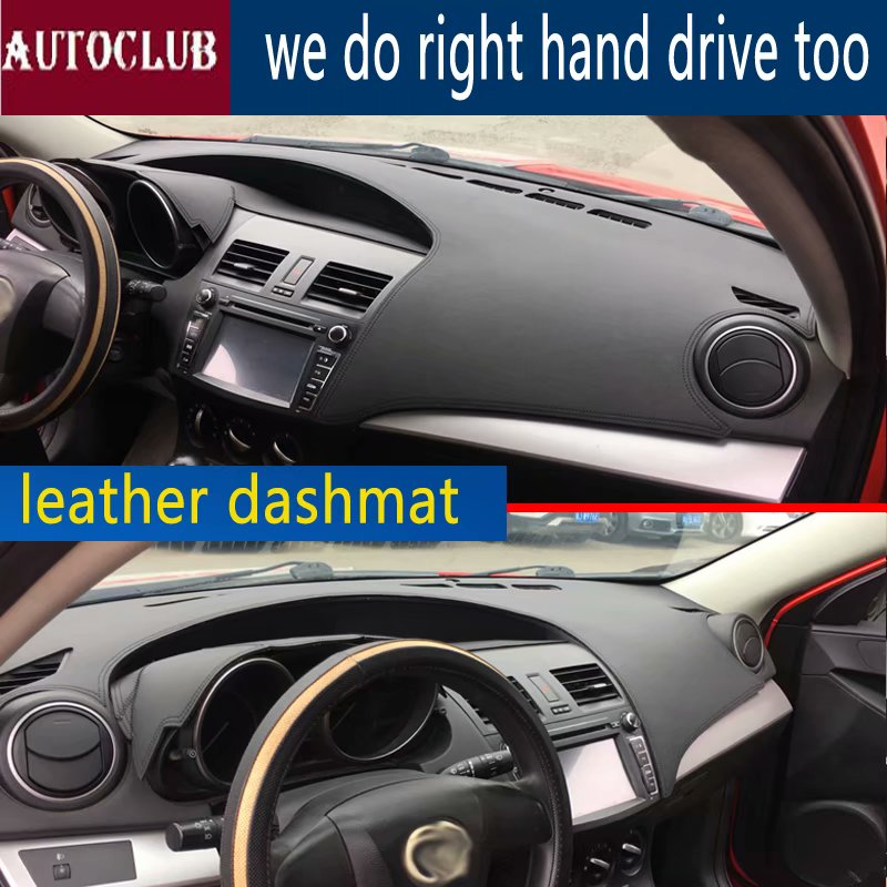 For Mazda3 Mazda 3 Axela BL 2009 2010 2011 2012 2013 Leather Dashmat Dashboard Cover Car Dash Mat SunShade Carpet Accessories