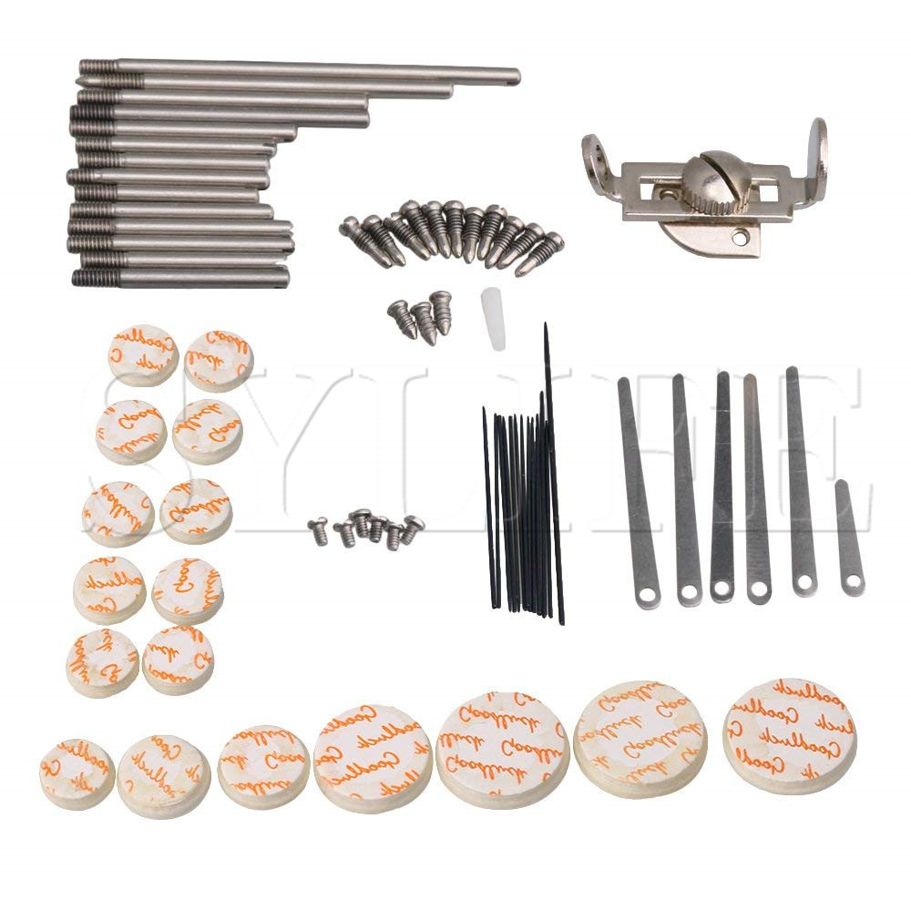 DIY Clarinet Repair Tool Kit Maintenance Parts Reed Top Screw Finger Support Key Shaft Top Screw Reed Pin Type ADIY Clarinet Repair Tool Kit Maintenance Parts Reed Top Screw Finger Support Key Shaft Top Screw Reed Pin Type A
