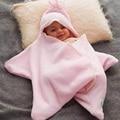 2016 New Baby Sleeping Bag Star Shape Winter Warm Flannel Stroller Sleeping Bag For Newborns Baby Winter Accessories