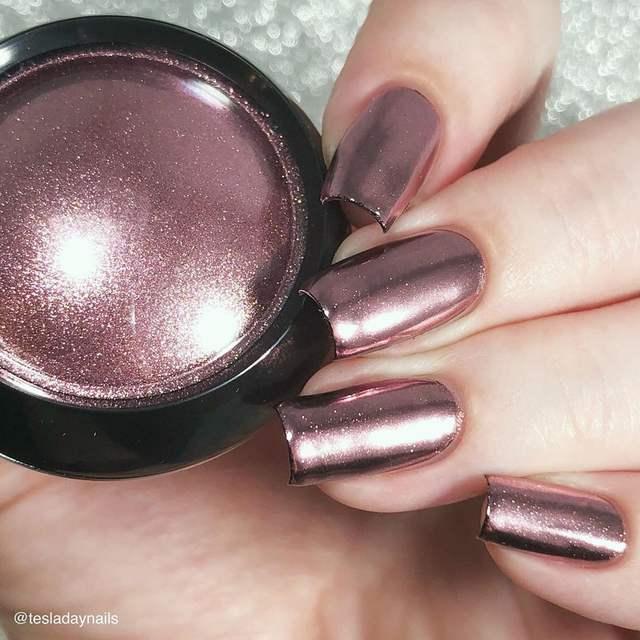 0.5g 1g Rose Gold Mirror Nail Glitter Powder Colorful Chrome Pigment Dust Shinning Glitters Nail Art Gel Polish Decorations