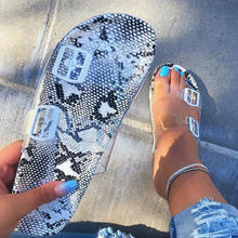 Summer Woman Flat Slippers Transparent Plastic Soft Jelly Shoes Female Belt Bukle Flip Flops Women Outdoor Beach Ladies Slides(China)