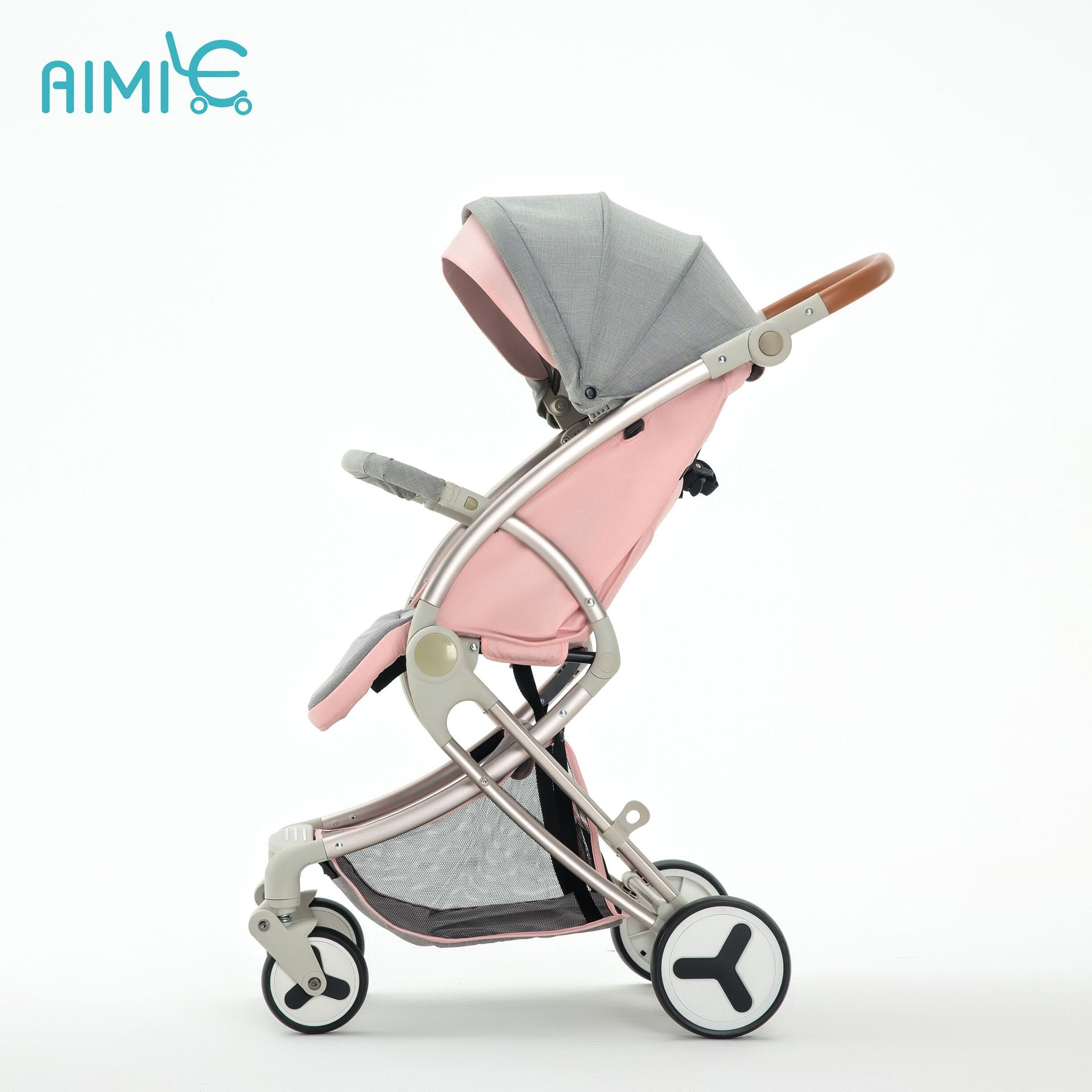 Super light  Baby Stroller Can Sit  and  Lie  Folding  Children High Landscape newborn travel stroller high landscape baby stroller can sit and lie in a folding baby four seasons universal newborn baby summer baby stroller