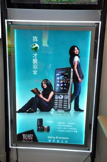 Advertising Display Led Poster Frame Lightbox, Wall Acrylic Led ...