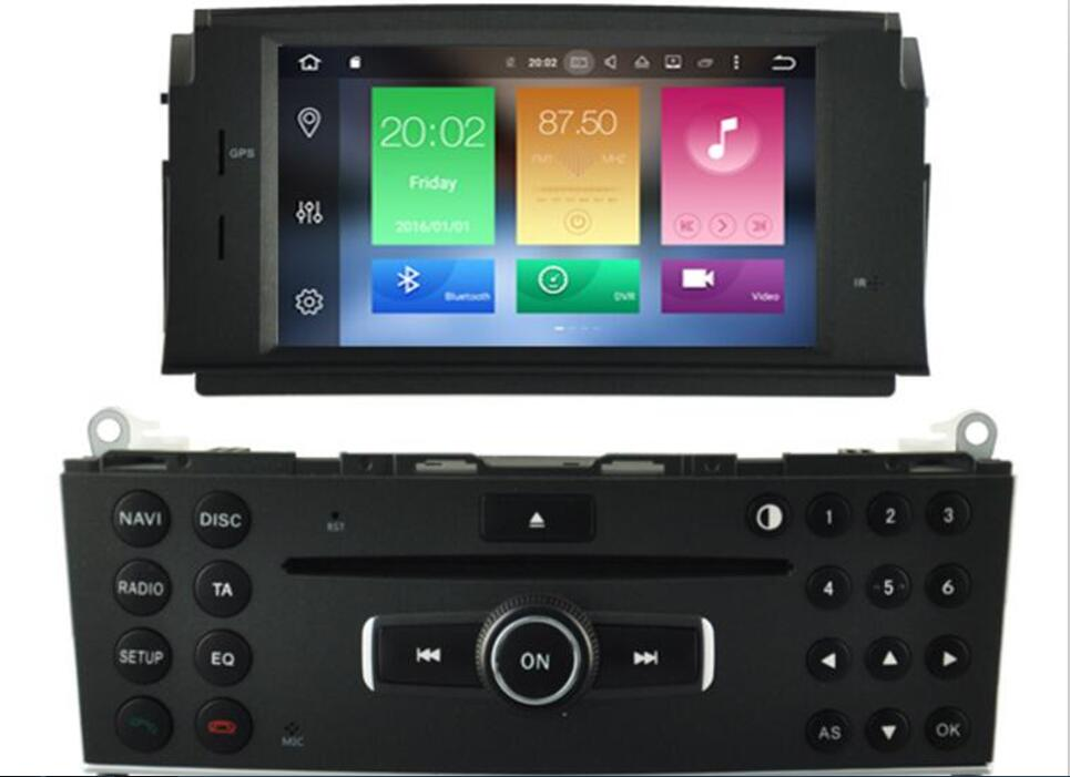Car Android 9.0 DVD <font><b>GPS</b></font> Player For Mercedes Benz C-Class <font><b>W204</b></font> C200 Octa 8 Core 4G RAM 32G ROM <font><b>Radio</b></font> BT Wifi MAP DAB+ Mirror Link image