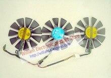 Tarjetas Gráficas originales ventilador de refrigeración para ASUS STRIX-RX480-O8G-GAMING GTX1060 GTX1070 PLD09210S12M PLD09210S12HH Power Logic
