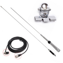 Antenne Mobile Kit Nagoya NL-770R UHF VHF double bande clip câble coaxial pour autoradio QYT kt-980plus kt-8900 kt-8900d bj-218(China)