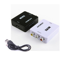50 PCS HD 1080 P untuk HDMI AV/RCA CVBS Adapter Mini untuk HDMI2AV Video Converter Box Untuk PS4/PC/VCR/NTSCC(China)