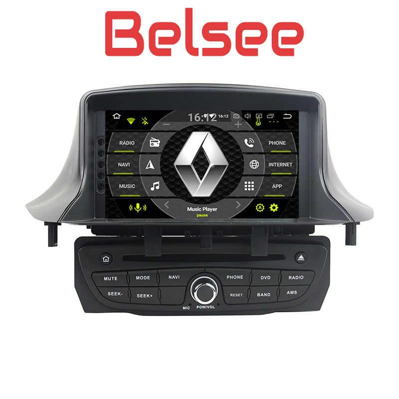 Belsee Car Radio Android 8 0 Navigation Multimedia DVD Renault Megane MK3 3  III Fluence 2009 2010 2011 2012 2013 2014 2015 2016