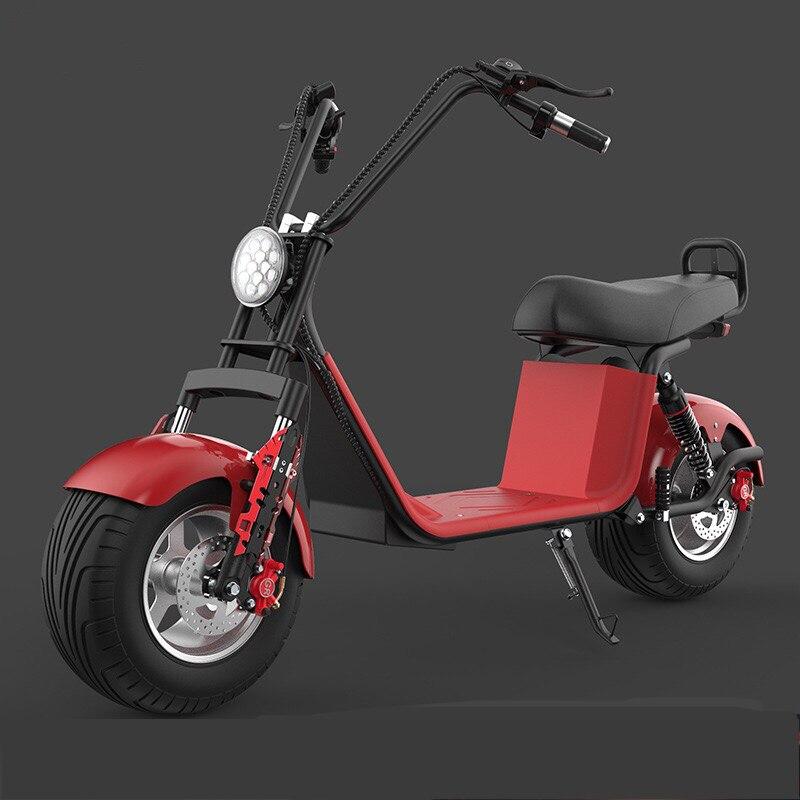 Moto électrique adulte Électrique Citycoco Scooter vélo électrique 60V20A 1500 W Double batterie au lithium Avec Deux-Roue - 2