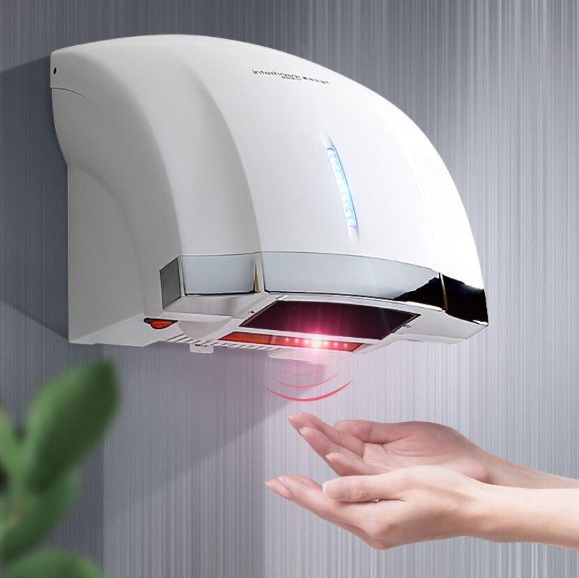 Totalmente Automático Secador de Mão de Indução Comutação Fácil Instalação Do Agregado Familiar Do Banheiro Quente e Fria