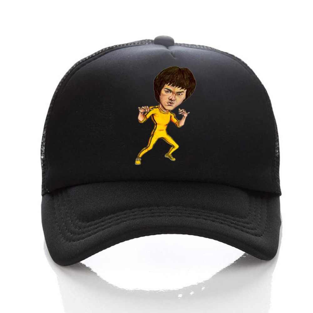a119a4bd Chinese kung fu Bruce lee Cosplay hat Adjustable women men Hat Baseball Cap  snapback Caps Cartoon Curved Hat