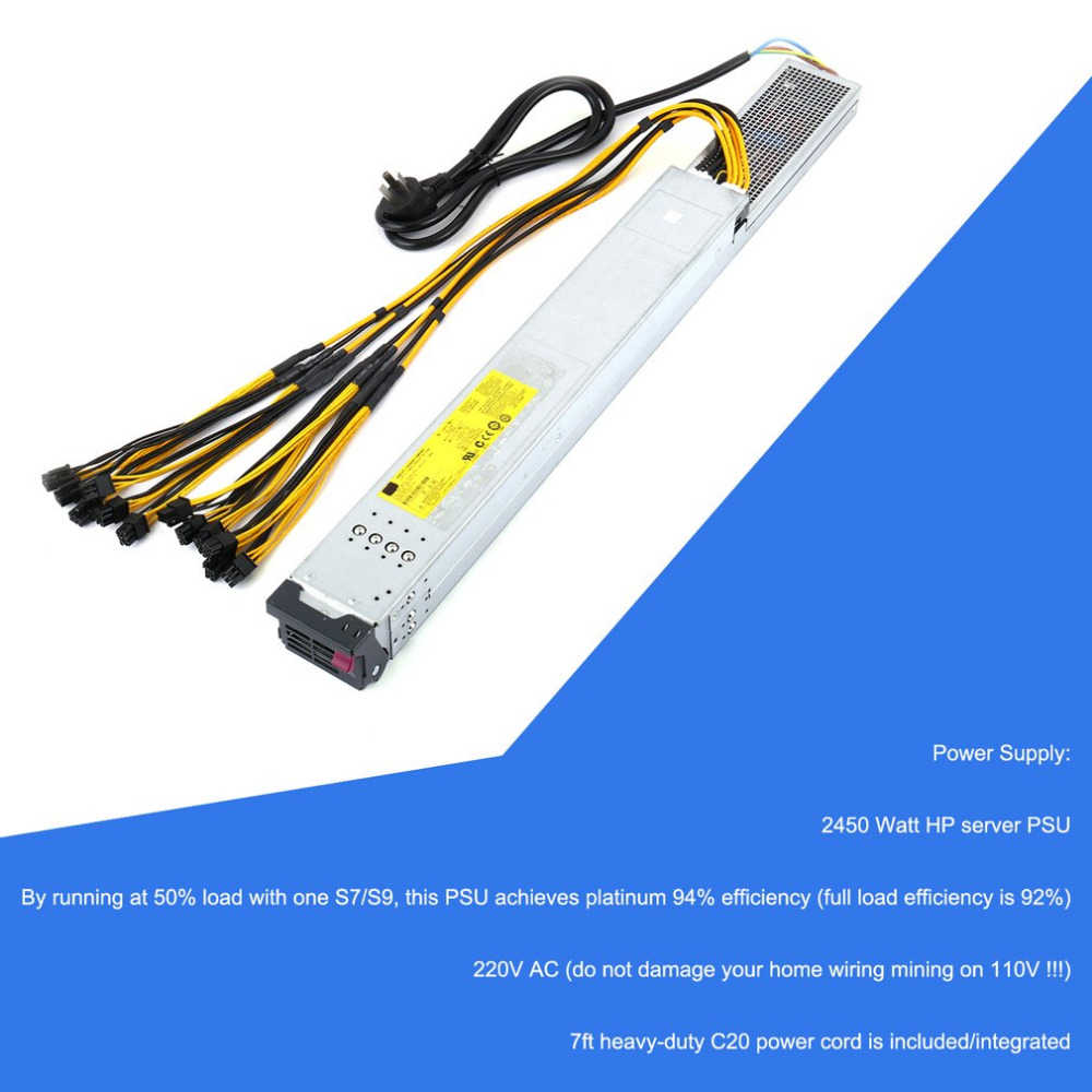 Professional 2450w Power Supply Server Psu With Ready To Use Wiring House 110v Package Included 1 X