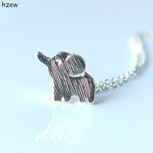 Min 1pc Gold and silver lucky elephant necklace