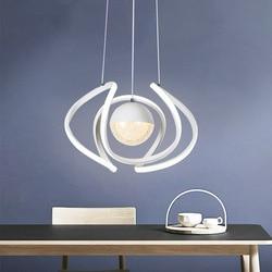 Nowoczesne lampy Nordic LED akrylowe żyrandol do restauracji badania salon zawieszenie oświetlenie korytarza oprawy|Żyrandole|   -