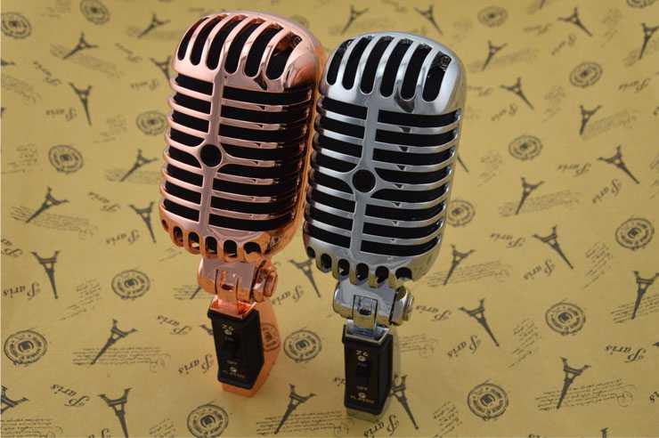 Swing vintage microphone Z6 KTV karaoké classique microphone jazz blé