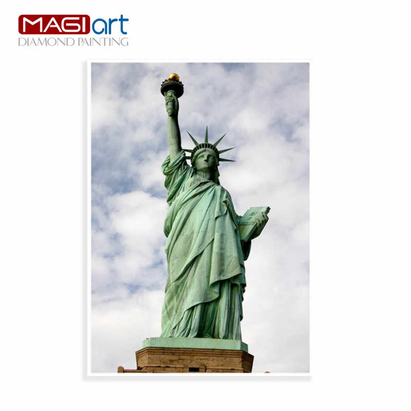 Diamond painting accessories,Diamond embroidery,5D DIY mosaic Diamant, picture of rhinestones,full round Liberty Statue  ZMP016