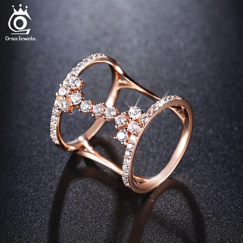 ORSA JEWELS 2018 Fashion Rose Gold/Silver Color Unique ...