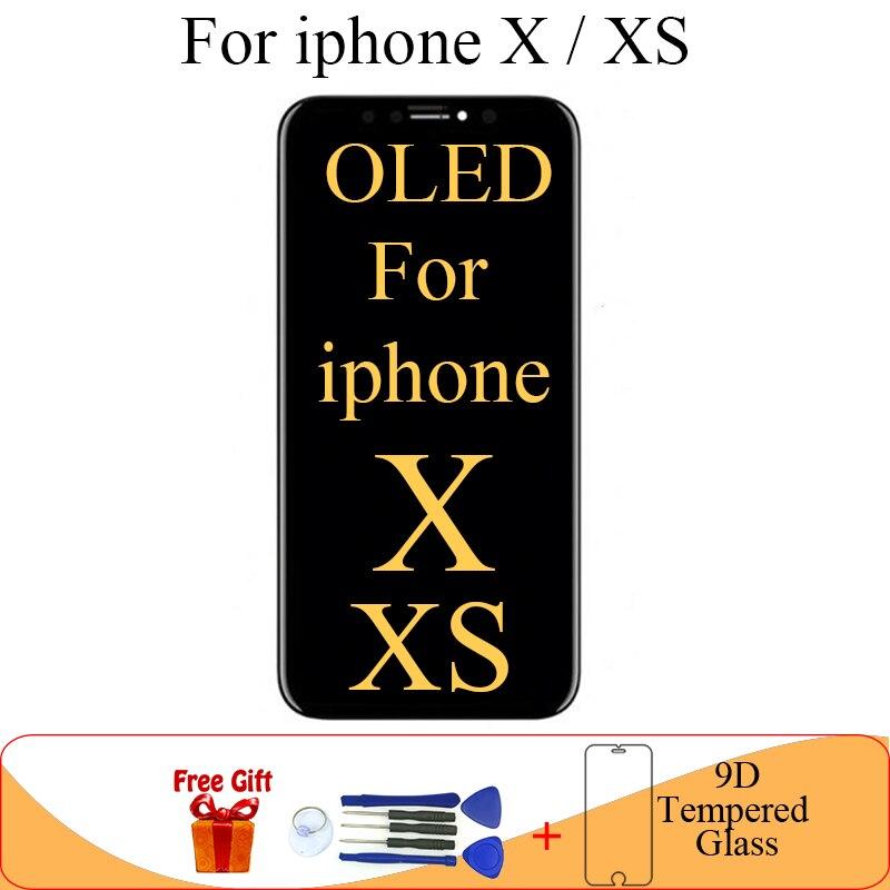 OLED Para iphone X Display LCD Substituição Da Tela para o iphone x xs XS módulo de display lcd tela