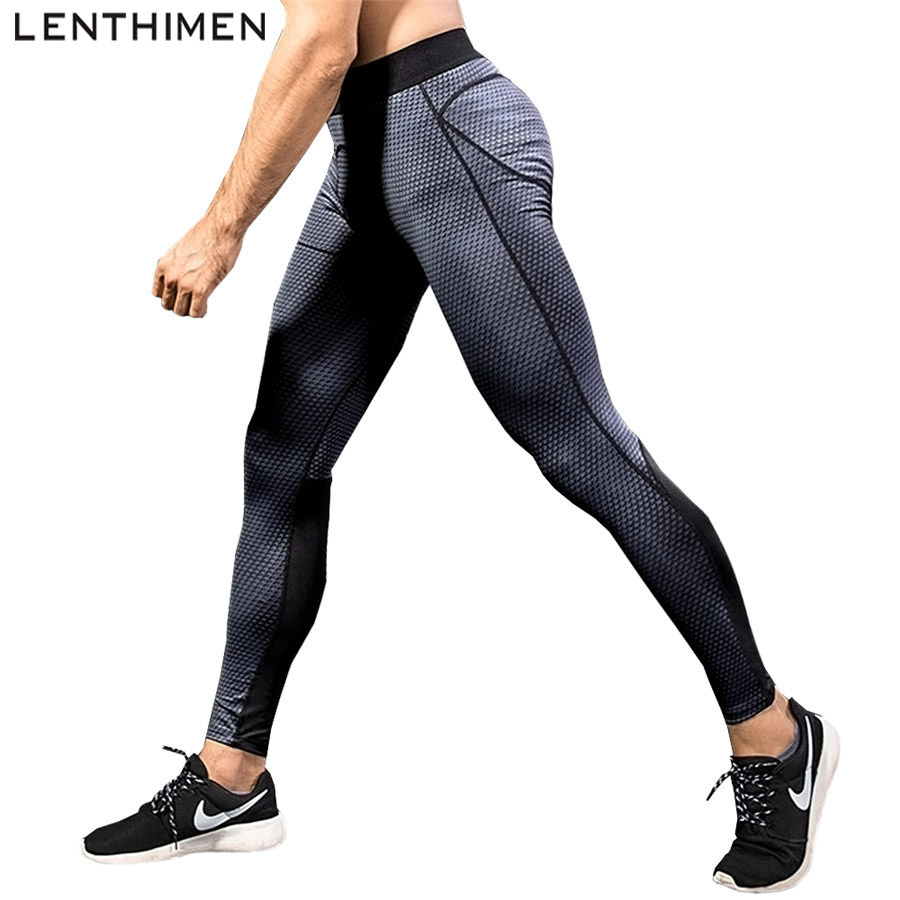 Compression Pants Sports Running Tights Men Jogging Leggings Fitness Sport Trousers Jogger Mens Elastic Breathable Sweat Pants