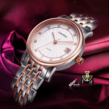 Comtex brand OL watch luxury fashion Woman Wristwatch rose gold sapphire Dress Watch Japanese quartz Calendar Crystal watch gift