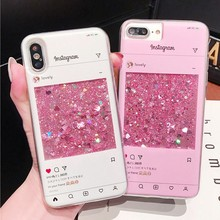 Lovely Pink Quicksand Case For Huawei Honor 7A Pro 5A 6A 5X 6X 7X 8X Silicone Crystal Liquid Phone Case For Honor 8X Case Cover(China)