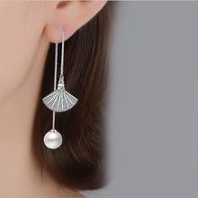 Everoyal 2018 New Arrival Sector Pearl Long Earrings for Girls Jewelry Trendy Tassel Earrings For Women Bride Wedding Gift