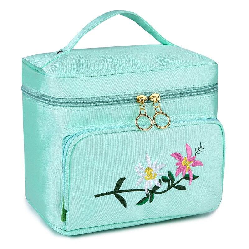 SUONAYI Fashion High Capacity Beautician Professional Cosmetic Storage Cosemtic Bag Organizer Makeup Womens