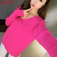The New Autumn And Winter High Necked Cashmere Sweater Women Thick Piles Gradient Knit Turtleneck Bottoming