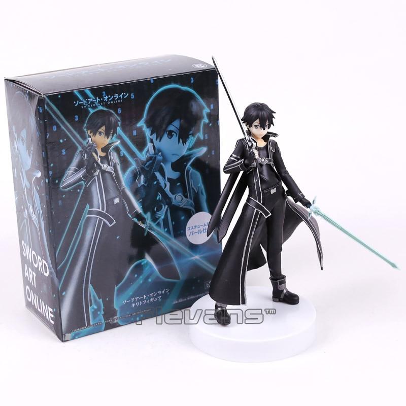 Sword Art Online Kirigaya Kazuto Kirito PVC Figure Collectible Model Toy Black/White 18cm кавахара р sword art online айнкрад 002