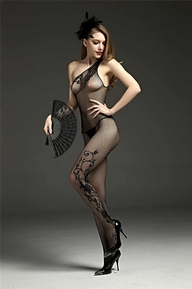 3aafeb6cca9 ... Hot Erotic Open Crotch Fishnet Bodystocking Women Lady Sexy Lingerie  Transparent Black Lace Body Suit SM ...