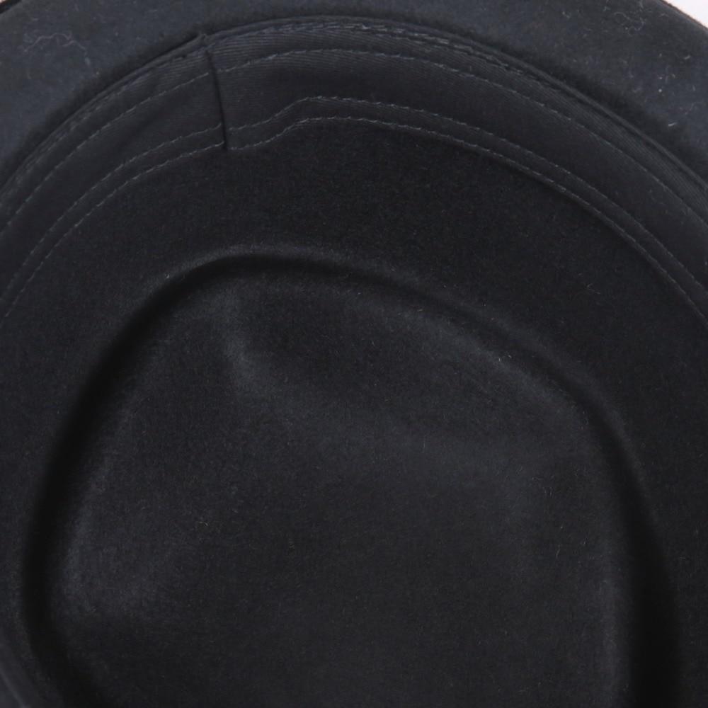 Image 5 - Sedancasesa New Europe England Style Autumn Winter Hat For Men Fedora Hat pork pie Mans Wool Felt Male Fedoras Vintage CapMens Fedoras   -