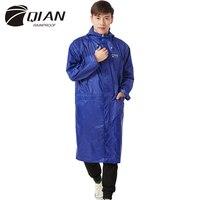 QIAN RAINPROOF Impermeable Long Style Raincoat Adults Waterproof Trench Coat Poncho Rain Coat Female Rainwear Rain