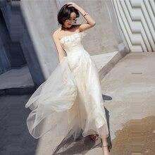 Prom Dress Sleeveless Ruffles Vestidos De Gala Sexy Backless Women Party Night Dresses 2019 Plus Size Boat Neck Gowns E695