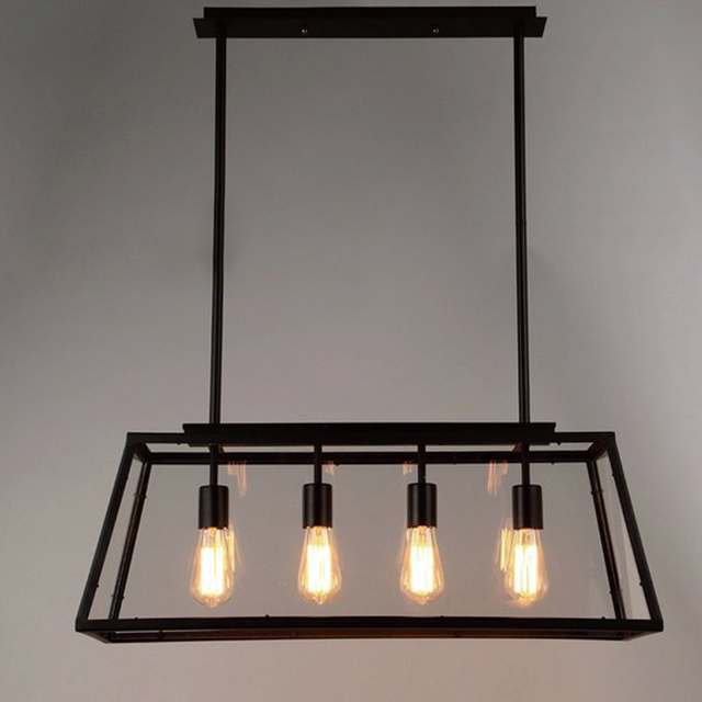 Elegant Black Vintage Industrial Pendant Light Loft Style Lights Creative Nordic  Retro Lamp Spider Edison Dining Living