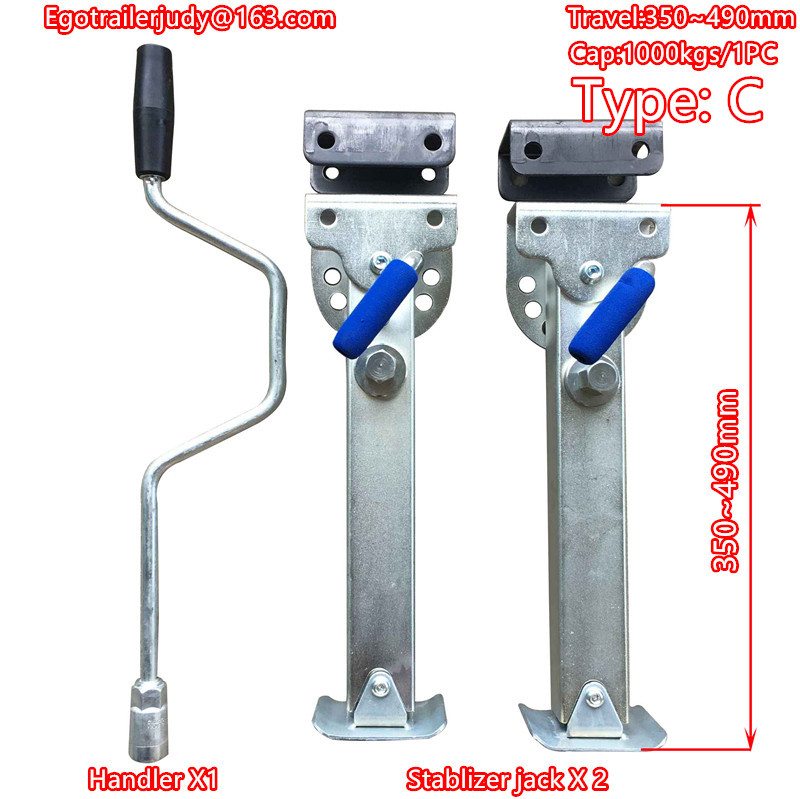 EGO TRAILER stabilser Legs Drop Down Caravan parking legs Motorhome Camping RV Trailer, prop stands  350~490mm Type C