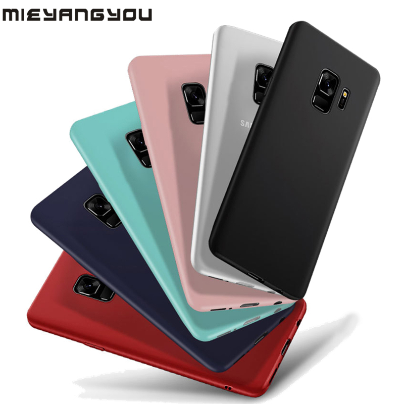 Case For <font><b>Samsung</b></font> Galaxy S8 S9 Plus S10E Note8 9 A10 A20 <font><b>A30</b></font> A40 A50 A60 A70 A80 A7 2018 M10 M20 M30 Matte Soft TPU Silicon Cover image