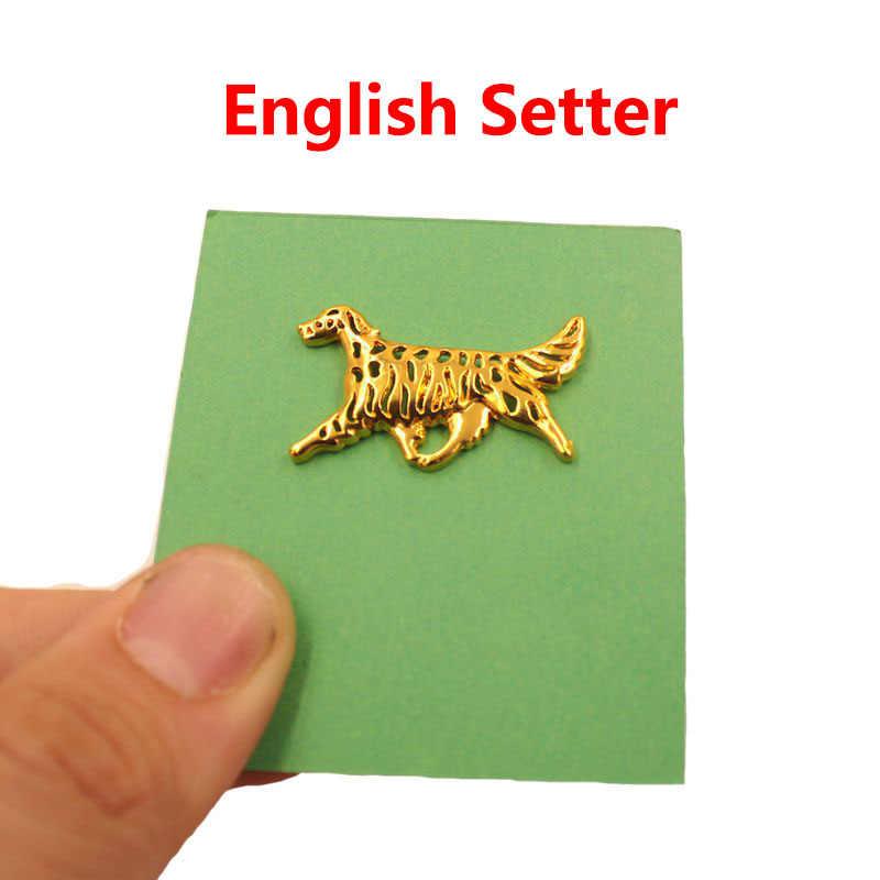 Mdogm 2019 Setter ภาษาอังกฤษสุนัขสัตว์ Brooches และ Pins สูทน่ารักขนาดเล็กพ่อคอป้ายของขวัญสำหรับชายชาย b162